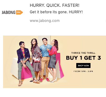 buy 1 get 3 on jabong