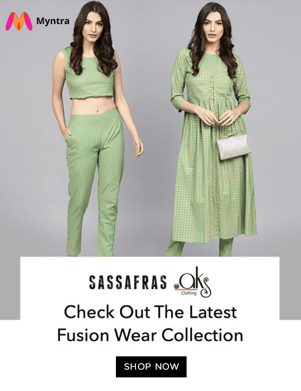 You are unique with fusion wear on myntra