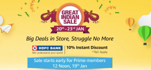 Great Indian Sale 20th-23rd Jan